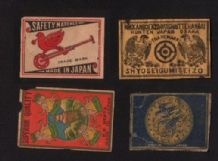 Collectible  match box labels CHINA or JAPAN patriotic #786